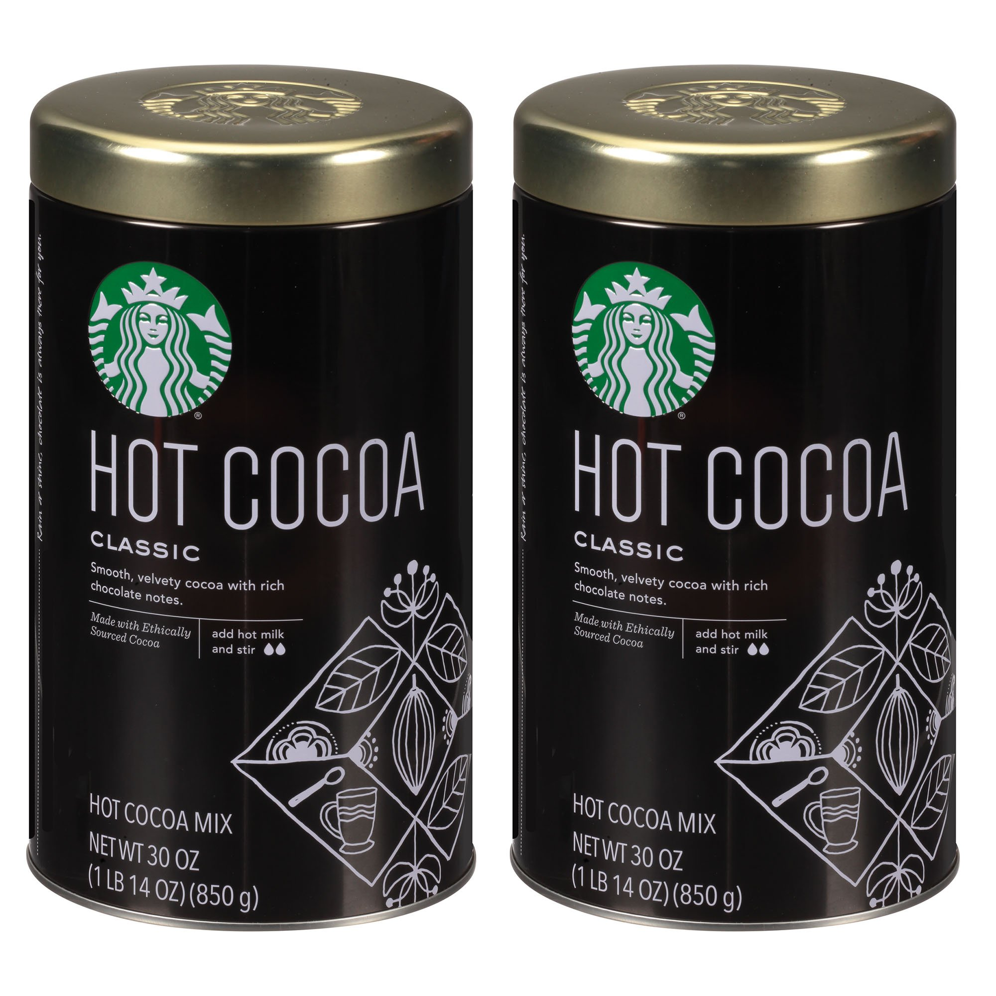 Starbucks Classic Hot Cocoa, 30 Ounce (2 Pack) by Starbucks