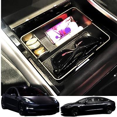 JOJOMARK for Tesla Model 3 Accessories Center Console Organizer 2020 2020 2020 2020 Tesla Model 3 (ABS): Automotive