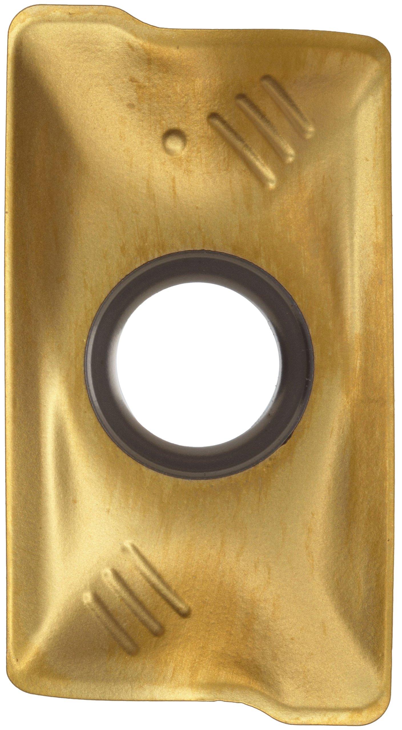 Sandvik Coromant COROMILL Carbide Milling Insert, R390 Style, Rectangular, GC1025 Grade, TiAlN Coating, R39011T308MPM,0.141'' Thick, 0.031'' Corner Radius (Pack of 10)