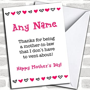 Mother In Law Vent Funny Mothers Day Greetings Card