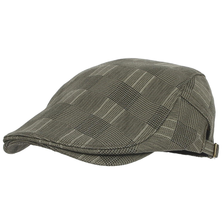 WITHMOONS Tartan Check Newsboy Hat Flat Cap SL3036