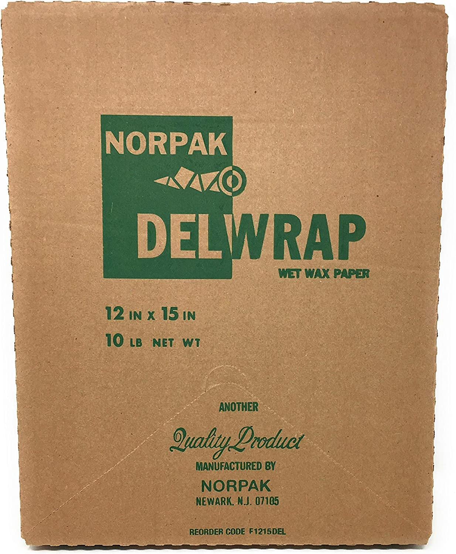 Norpak F1215DEL, 12x15-Inch Wet Wax Paper Sheets, Waxed Wrap Deli Paper Sheets (1 pack/ 1000 sheets)