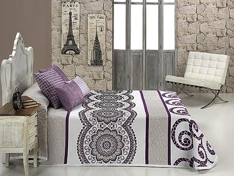 Textilia Colcha cubrecama, para Cama de 180 cm, 270 x 270 cm, Lila,