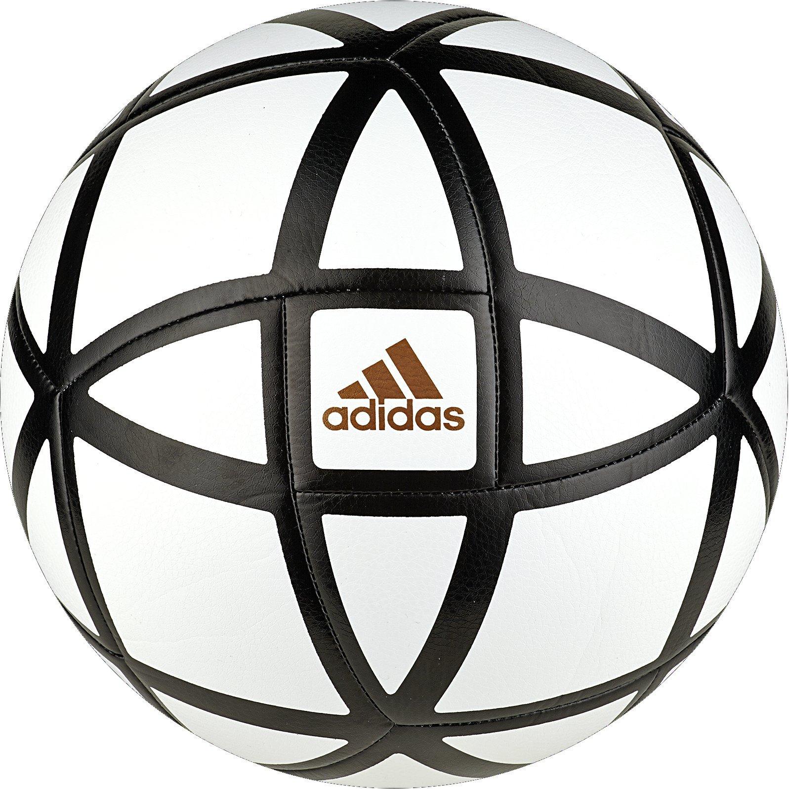 e14b7881 adidas Glider Soccer Ball, White/Black, Size 4