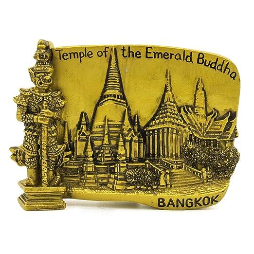 Templo de oro de Buda de Esmeralda Pintado a mano 3D Imán de ...