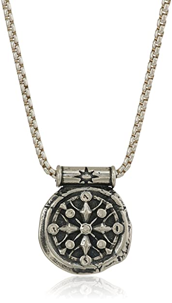 9b45241cd95b90 Alex and Ani Men's Compass 32-Inch Pendant Necklace, Sterling Silver,  Expandable