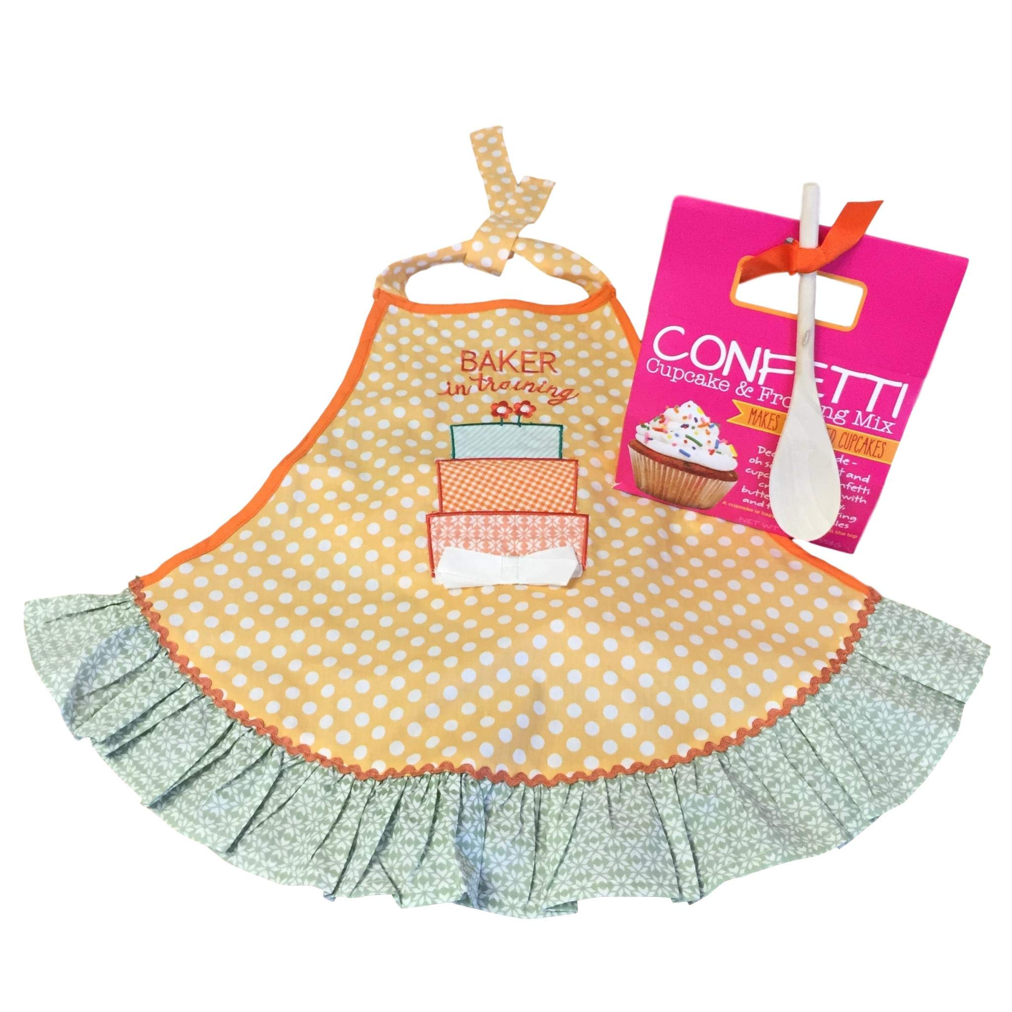 Baking Bundle with Girl's 'Baker in Training' Apron and Confetti Cupcake & Frosting Kit