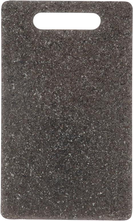 Schneidebretter 3er Set Grau Kunststoff Granit Rutschfest Ständer Küchenbretter