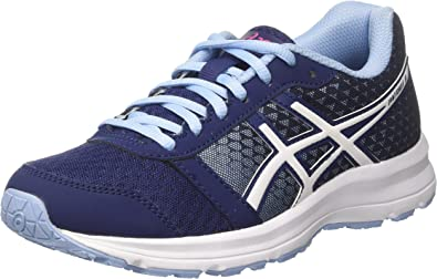 Asics T669N4901, Zapatillas de Running para Mujer, Azul (Indigo Blue/White/Fuchsia Purple), 36 EU: Amazon.es: Zapatos y complementos