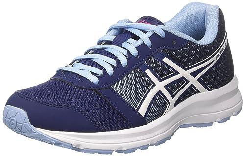 Asics Women's Patriot 8 Running Shoes, Blue (Indigo Blue/White/Fuchsia  Purple