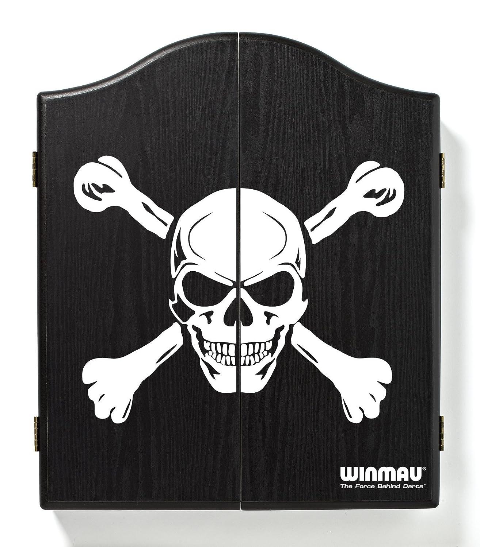 WINMAU printed dartboard cabinet and white negro/blanco 4001