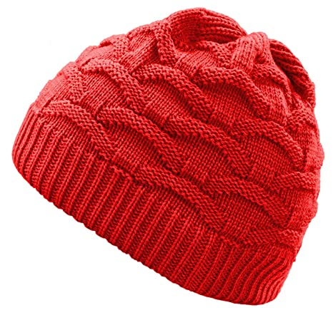 4sold Wave para Mujer Gorro de Lana Gorro Tejido Forro Gorro de Invierno Gorro de esquí y Snowboard Sombreros (Beige): Amazon.es: Ropa y accesorios