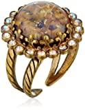 """Sorrelli  """"Mirage"""" Circular Cocktail Ring with Crystal Edge Accents"""