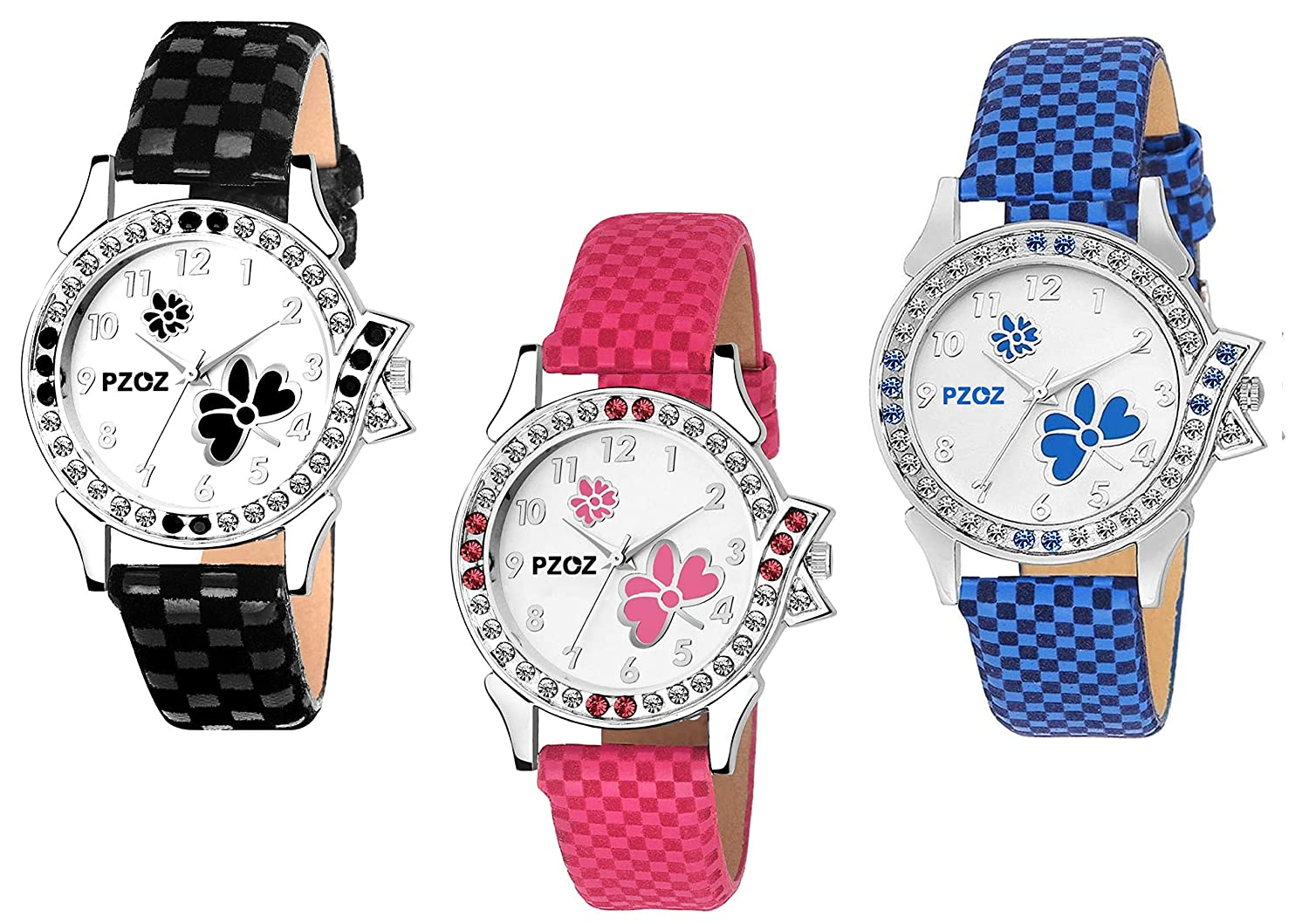 927bbd7c3b3 PZOZ Analog Multicolor Dial Girl s Watch Combo(Set Of 2)  Amazon.in  Watches