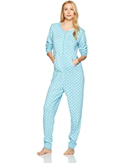 a3ace7722bc9 Noble Mount Women s Waffle Knit Thermal Onesie Pajama at Amazon ...