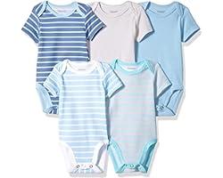 Hanes unisex-baby Ultimate Baby Flexy 5 Pack Short Sleeve Bodysuits