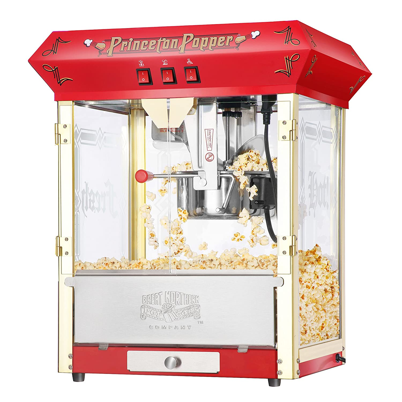 Great Northern Popcorn Red Princeton 8 oz Ounce Bar Style Antique Popcorn Machine 6045