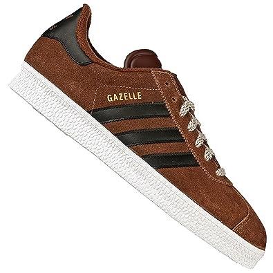 cheap for discount b1256 658e5 adidas Originals Gazelle 2 II Baskets Hommes Vintage Chaussures en Cuir  Marron G63206 - Marron,