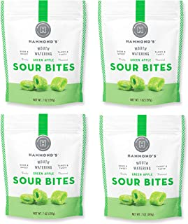 product image for Hammond's Candies - Sour Green Apple Licorice- 4 Bags, Sweet and Sour Chewy Candy, For Movies, Snacks and Candy Trays, Handcrafted in the USA