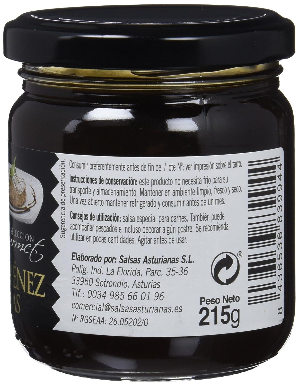 Salsas Asturianas Salsa Pedro Ximenez - 215 gr - [Pack de 6]: Amazon.es: Alimentación y bebidas