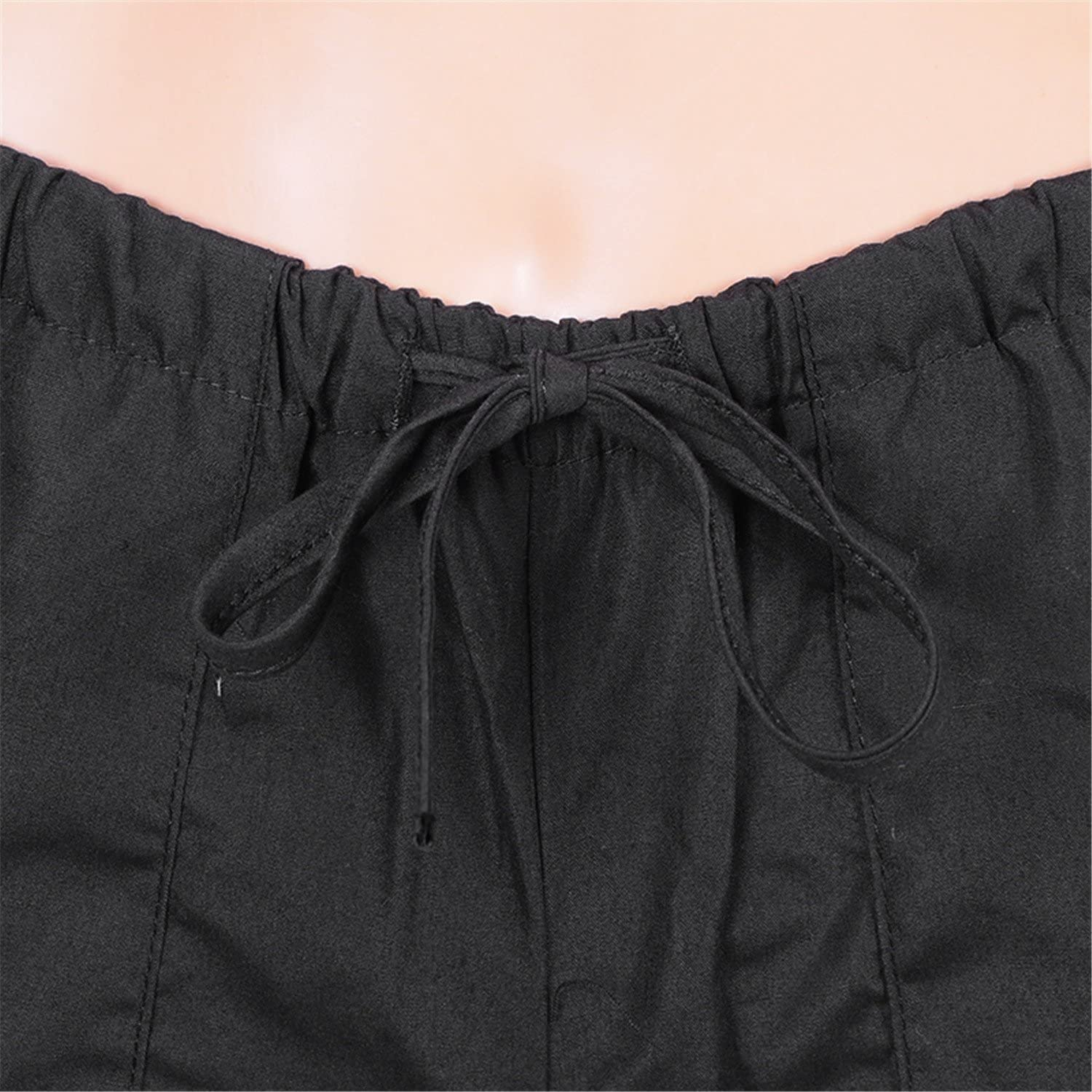 Reedbler Plus Size 5XL Casual Beach Pleated Pants Women Fashion Loose Solid Drawstring Trousers Female Long Flare Pants