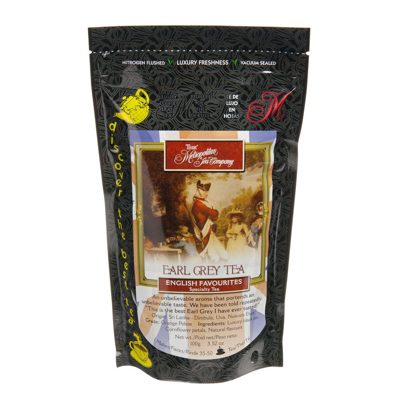 Metropolitan Tea Discovery Loose Tea Pack, Earl Grey English Favorite, 100gm