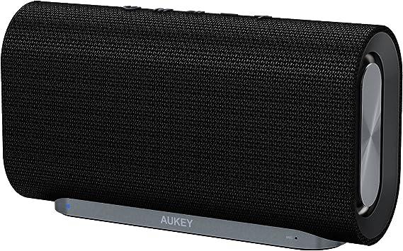 AUKEY Altavoz Bluetooth 20W con Tiempo de Reproducir de 12 Horas y con Tela Tejida para iPhones, iPads, Echo Dot, Samsung, Android Phones y Más: Amazon.es: Electrónica