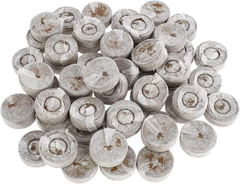 XUNGENG - Pastillas de turba comprimidas, profesional, gránulos de turba, juego de turba con nutrientes turba, bloque de suelo de semillas, para cultivo de plantas, multicultivo germinación (100)