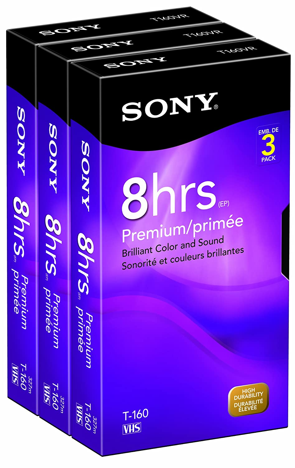 Sony 3T160VR 160-Minute VHS - 3 Pack (Discontinued by Manufacturer)
