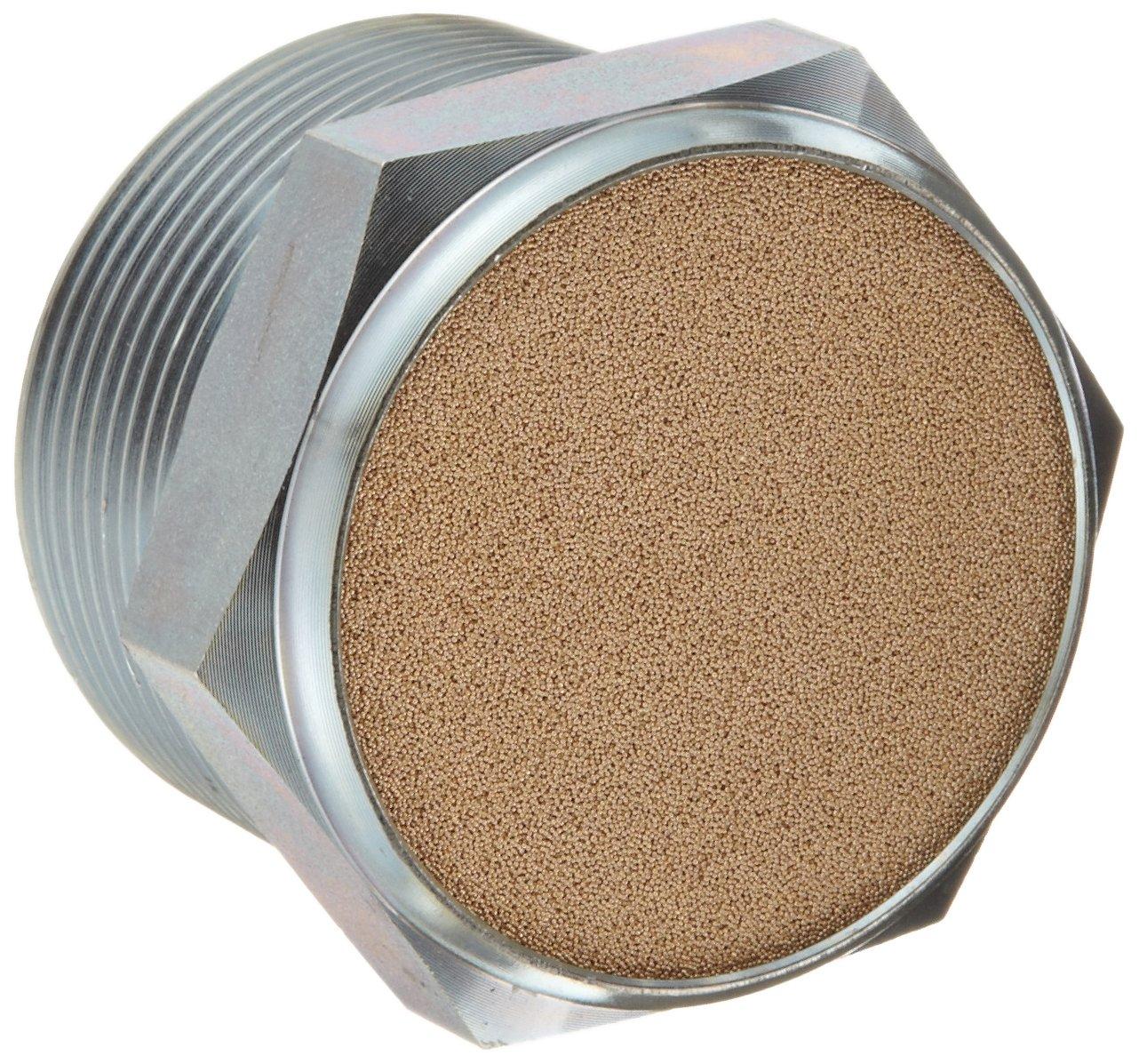 Parker 047240024 Sintered Bronze Breather Vent, 1-1/2'' NPT Male, 1.5'' Length, 150 psi