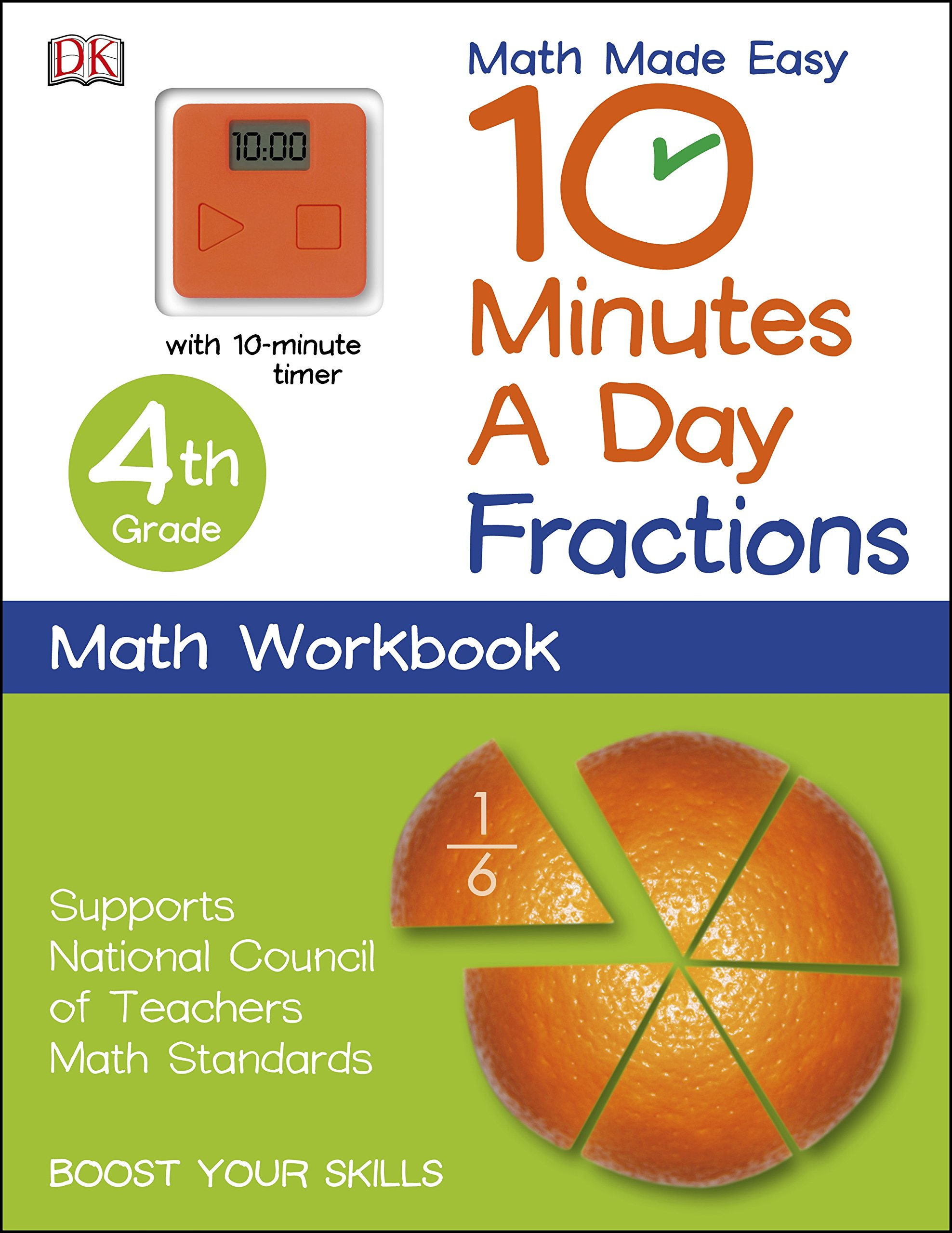 10 Minutes a Day: Fractions, Fourth Grade (Math Made Easy): DK ...
