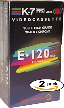 VHS Video Cassette - Cinta de video 120 min High Quality Quality Chrome (X 2