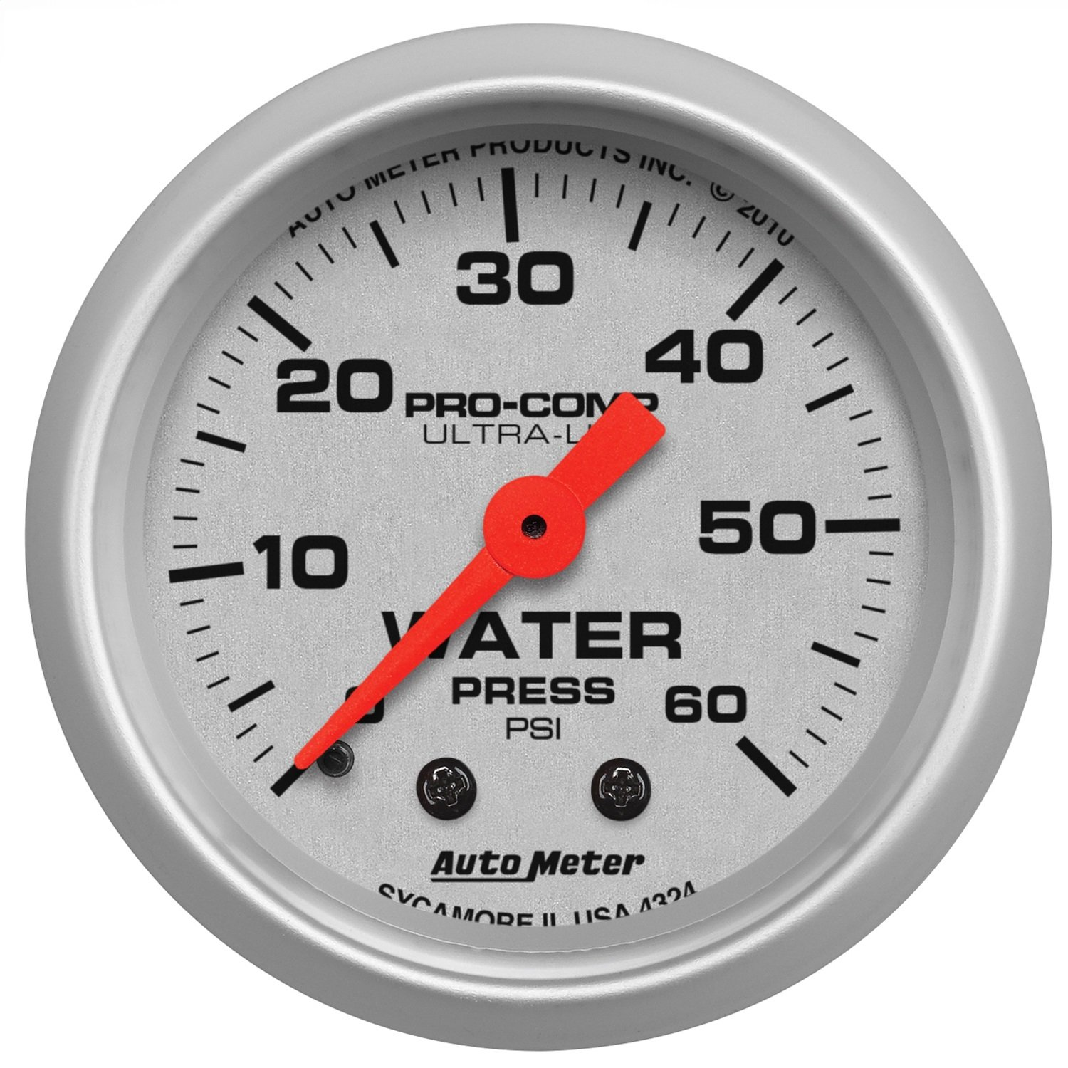 Auto Meter 4324 Ultra-Lite Mechanical Water Pressure Gauge by AUTO METER