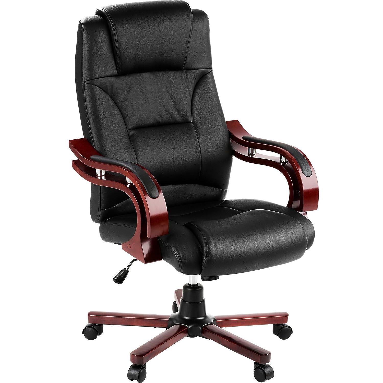 TecTake Poltrona sedia direzionale da ufficio con rivestimento di finta pelle 400256