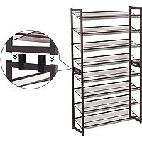 Songmics 8-Tier Adjustable Flat or Angled Shelves Shoe Rack