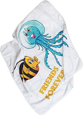 PatiChou 100/% Baumwolle Baby Bettw/äsche Bettbezug 80x80 cm und Kissenbezug 35x40 cm Fisch und Quallen freunde