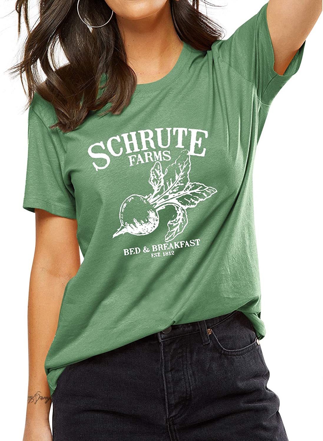 Schrute Farms Beets Girls Fashion Thin Casual No Show Socks