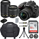 Nikon D3400 24.2MP DSLR Camera with AF-P DX 18-55mm f/3.5-5.6G VR Lens + AF-P DX NIKKOR 70-300mm f/4.5-6.3G ED Lens + 32GB High Speed Memory Card + Camera Carrying Bag + Tripod (Certified Refurbished)