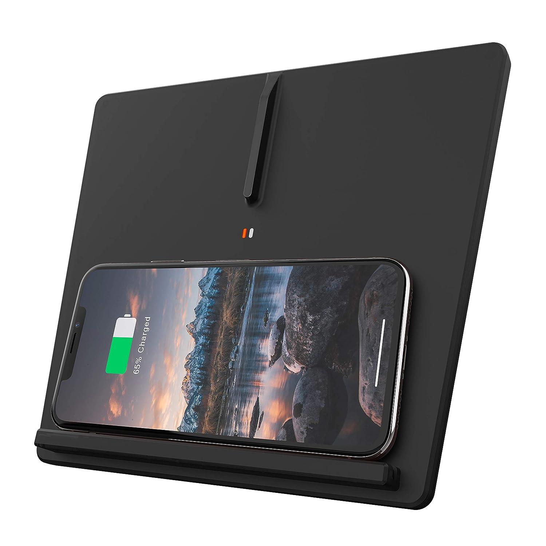VXDAS Cargador inal/ámbrico Tesla Modelo 3 Qi Cargador de tel/éfono inal/ámbrico Almohadilla para tel/éfono m/óvil Qi 3 bobinas Horizontal//verticalmente Dual Smartphone Cargador Mat Tesla Accesorios