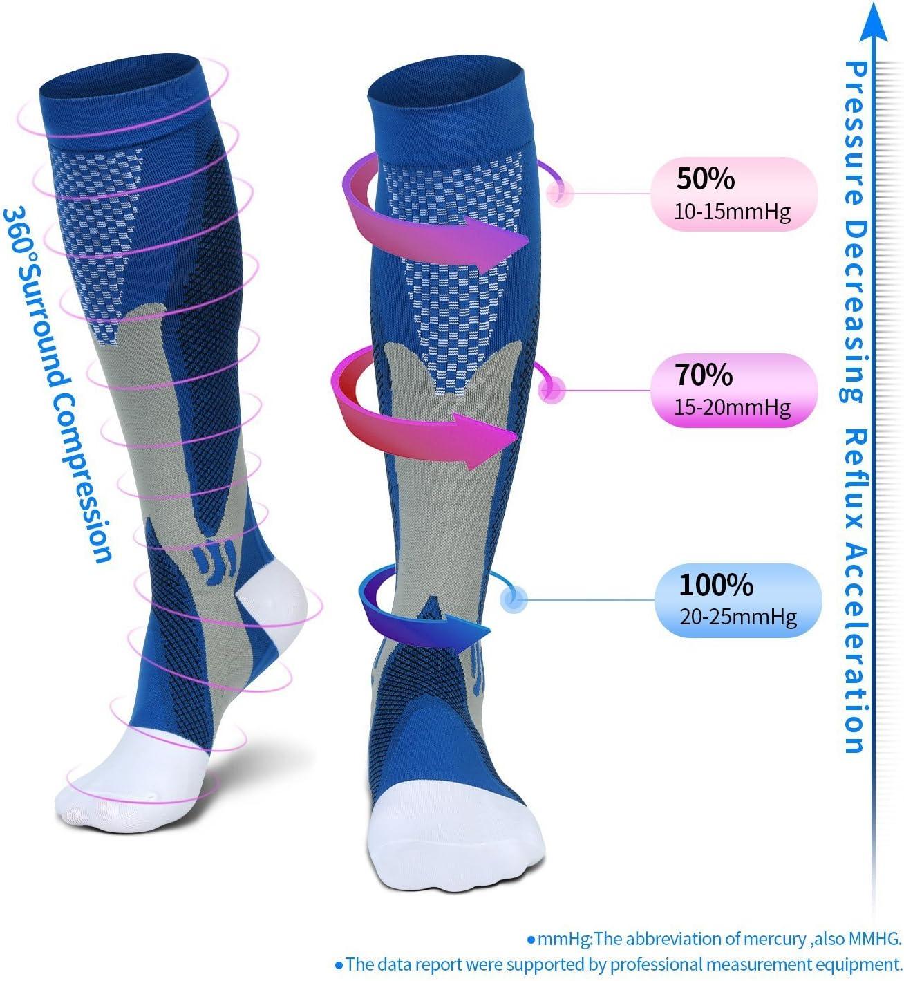 Calcetines de compresi/ón unisex 20-30 mmHg