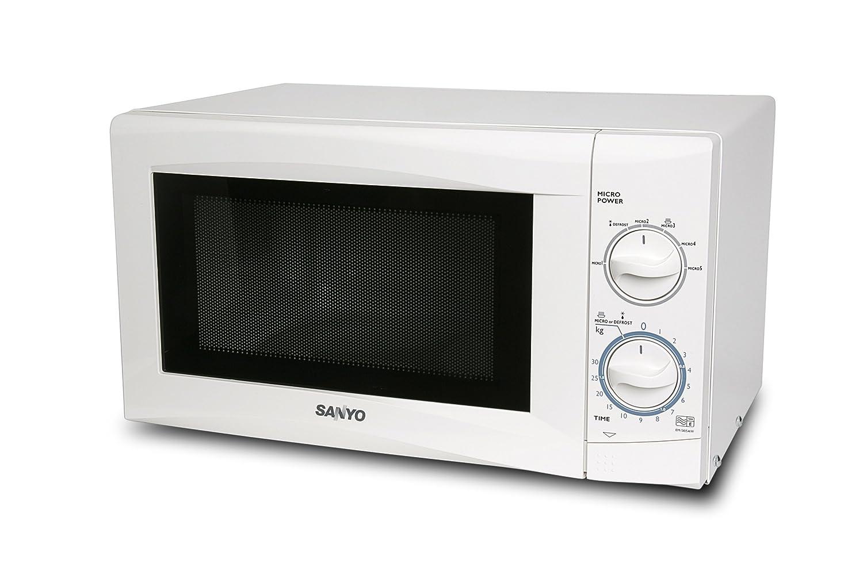 Sanyo EM-S105AW - Microondas (17 L, 700 W, Giratorio, Blanco ...