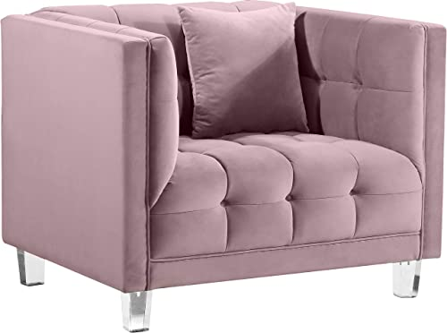 Meridian Furniture Mariel Collection Modern | Contemporary Velvet Upholstered Chair