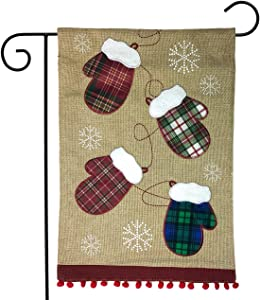Briarwood Lane Winter Mittens Burlap Garden Flag 12.5