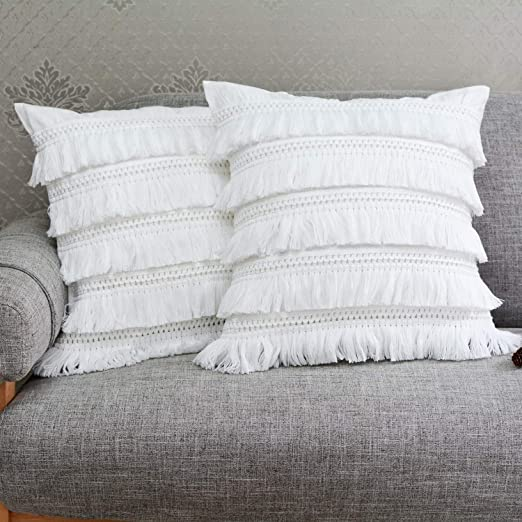 Amazon Com Soffta Throw Pillow Covers 22 X 22 Inch Pack Of 2