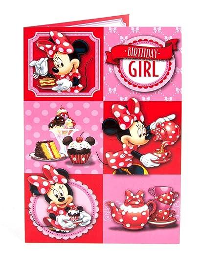 Disney Minnie Mouse Tarjeta de cumpleaños para cualquier ...