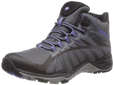 3ef825fd0c4 Merrell Women's Siren Edge Q2 Mid Waterproof High Rise Hiking Boots, Black,  3.5 (