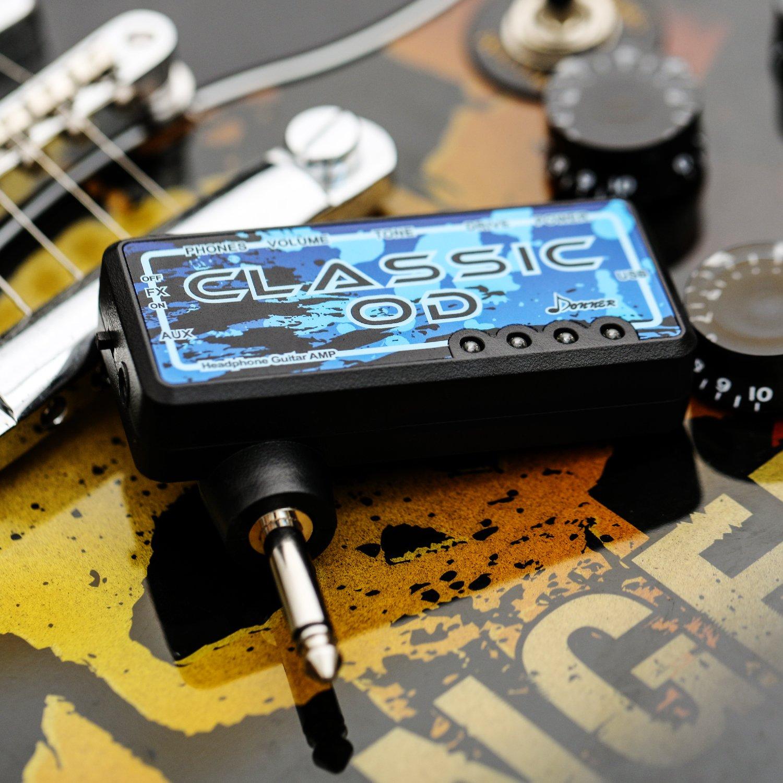 Donner Kopfhörerverstärker Gitarre Classic OD FX Verb wiederaufladbar Mini Kopfhörer Verstärker Gitarre AMP Amazon Musikinstrumente