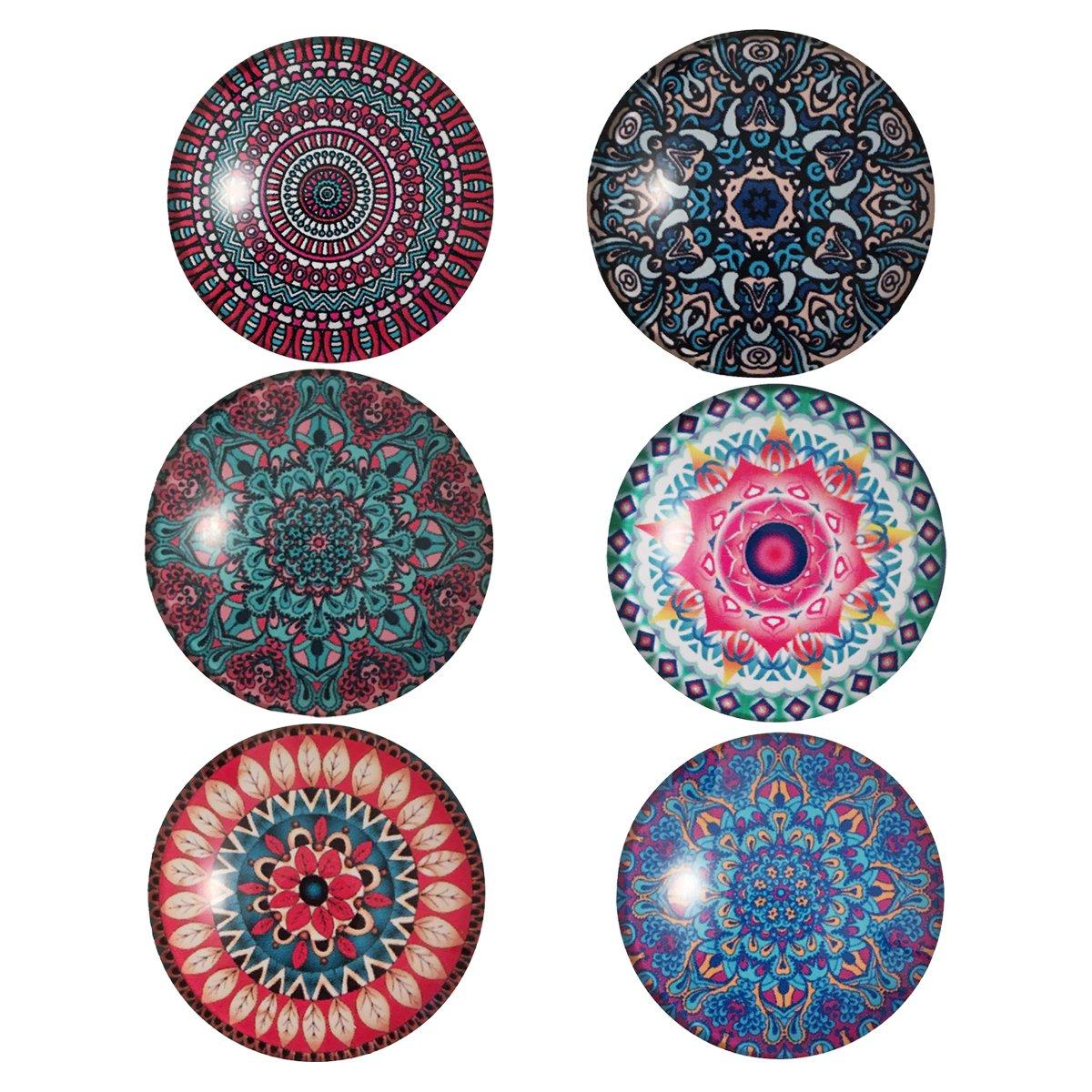 Premewish 6 Imanes del refrigerador Modelo de flor de la mandala ...
