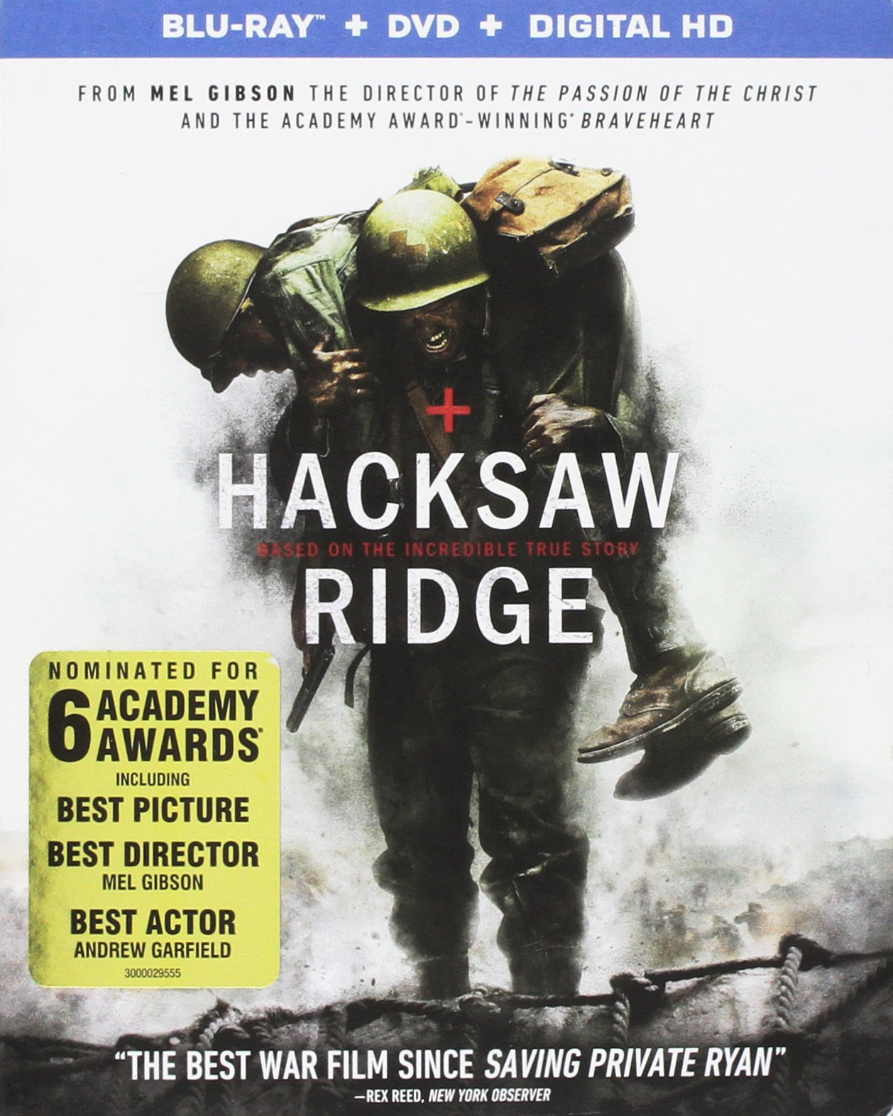 Blu-ray : Hacksaw Ridge (With DVD, 2 Disc)
