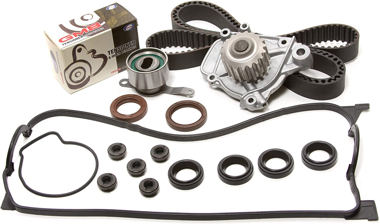 Evergreen TBK223VCT Fits 92-95 Honda Civic 1.5 D15Z1 Timing Belt Kit Valve Cover Gasket Water Pump